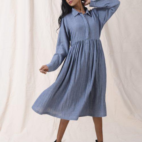Blue sky dress Front