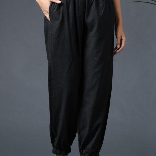 Jogger Pants Black Front