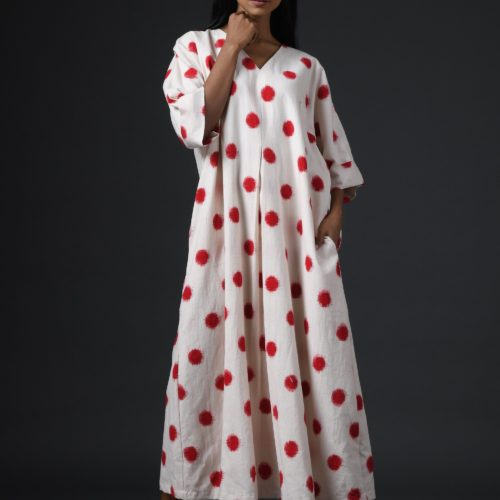 Red Polka dress Front