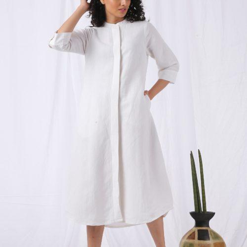 Round neck tunic dress Front 3