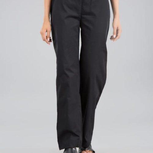 Slim fit pants black Front