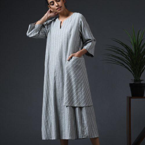 Wraparound Pocket Dress Sage Front