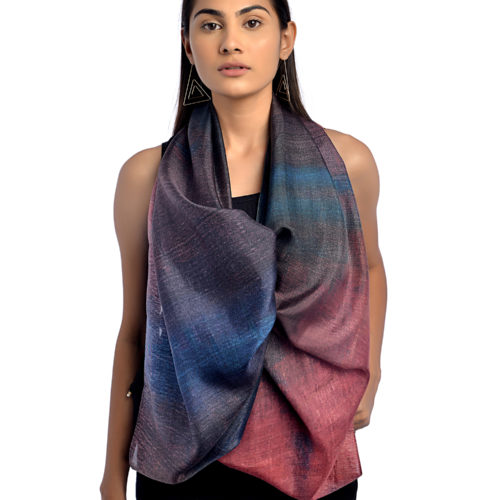 Mulberry Long Pure Silk Scarf 1