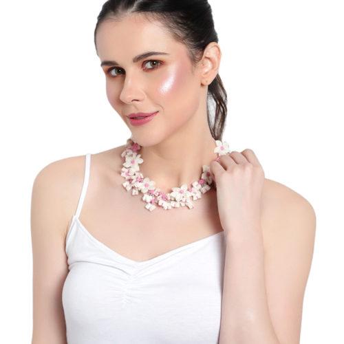 flora fabric necklace