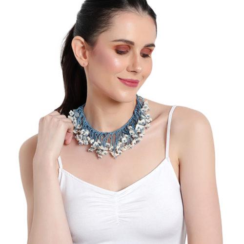 fringe cord necklace